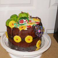 Topsy Turvy #1 Teacher Thank You Apple Barrel Cake My daughter wanted to make her teacher a Topsy Turvy/Apple Barrel cake. This is what we came up with! Thanks again to YouTakeTheCake and...