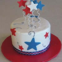 July 4Th Birthday A 6-inch chocolate cake with chocolate fudge buttercream icing filling. The cake was then iced in vanilla buttercream, decorated with...