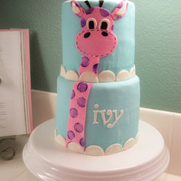 Giraffe Cake This was for my little girl's 3rd birthday. I am so bummed she got sick and we had to call off her party! Oh well, more cake for us!