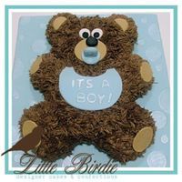 Baby Boy Bear Cub Cake This was probably the very first cake that went off without a hitch! BC with fondant accents. I am super excited to present it to the...