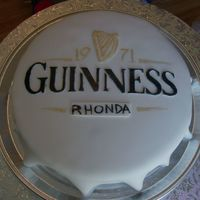 "Guinness Cap Cake not the best lighting, but i was really happy with how this cake ""panned"" out :P .The birthday girl was so impressed she emailed..."