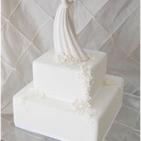 White On White This cake is a new favourite! I made it for a Bridal Show, and was inspired by a cake from the yummy cake company. I dropped the morning of...