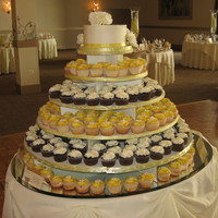 Wedding Cupcakes Over 300 cupcakes for a wedding, colors buttercup and ivory. white cake with key lime filling with BC frosting, and chocolate cake with...