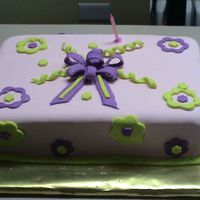 Cake Pink Green And Purple MMF, Ponque y Brandy