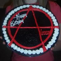 "Anarchy 12"" pizza cookie, buttercream icing"