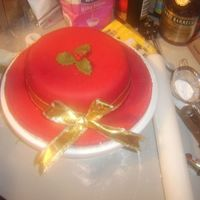 Red Christmas Cake Excuse the mess!