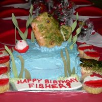 Fisher's Cake  This was inspired by Bytheslice cake. I couldn't come close to doing it was wonderful as her, but I gave it a shot. It was for a...