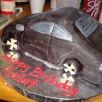 Car Cake   it's supposed to look like an acura tl cookies and cream cake with buttercream and fondant