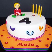 Lola So this is my first cake in 4 months! My daughter is turning 4 today and we're having a Charlie and Lola party for her! I don't...