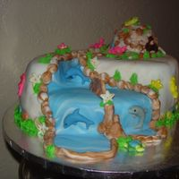 Oceanic Waterfall Cake For someone going to Atlantis which has a big natural waterpark setting withI had 20 hours notice for this. Luckily I make up all sorts of...