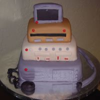 Tech Electronic Guy Cake Electronic Tech cake for a guy who likes gadgets.