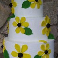 Sunflower Cake Fondant flowers and leaves