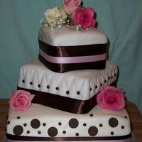 Pink And Brown Marshmellow Fondant