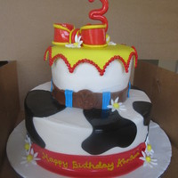 Toy Story Jessie Cake Client wanted a cake that was inspired by the Jessie character, but not no Jessie on the cake.