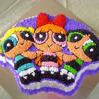 Power Puff''s Delicioso This cake is a vainilla ponque covered with butter cream. It is delicious and so simple to make.