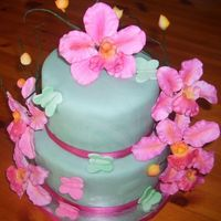 Orchid Butterfly Cake