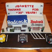 "Badcock 70's/ 2000's Then And Now This is a 3D cake I made for my Local Badcock store. They had a employee who started in the 70""s and still is there. So we did a Then..."