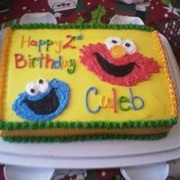 Elmo & Cookie Monster For my friend's son 2nd b-day party.