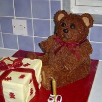 Teddy Bear Presents...   Made this for my mother in law's 50th Birthday.