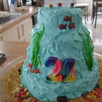 3 Tier Ocean Theme Cake Thanks for looking!