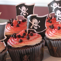 Kids Pirate Themed Cupcakes  These are some pirate themed birthday cupcakes I made for my son's 6th birthday to take to school. I didn't want to mix any...