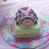 Smash Cake Ladybug   This is the smash cake I made to go with my grandaughters 1st Birthday cake.