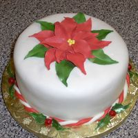 Poinsettia Cake Chocolate Fudge cake split into 4 layers. Filling is made from 1/4 inch raspberry jello discs topped with rich chocolate mousse layered...