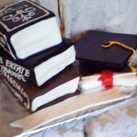 Gradcake.jpg all vanilla cake to include the grad cap. All fondant with royal icing writing. I had alot of fun making this cake for my best friends...
