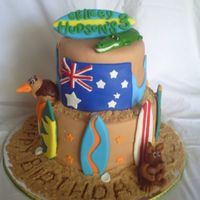 Resized_Cake_Photos_011.jpg This was made for a little boy turning 3. The parties theme was Australia and surfing. All fondant, and brown sugar sand.