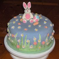 "Easter Cake  This is a 9"" choc. cake w/ cookies n cream filling and mmf everyting else. I am soooo proud of this cake even with its flaws. Its the..."