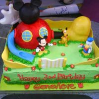 Mickey Mouse Playhouse This is my rendition of a cake central Mickey Mouse Clubhouse members cake (thanks so much for the wonderful idea). It was so fun to make...