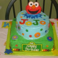 Elmo - Sesame Street Cake  This one was for a friends son's 2nd Birthday - It was so fun to do. The cake a confetti style flavor with buttercream frosting. The...