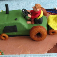 Tractor And Farm  My grandson loves tractors. I really had to look for ideas as I had no clue how to make a tractor. Debbie Brown, google and of course CC...