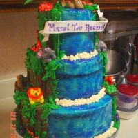 Jungle Theme Bas Mitzva Cake