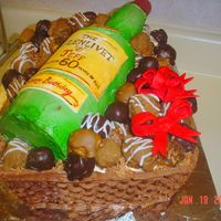 Scotch Bottle Gift Basket Cake