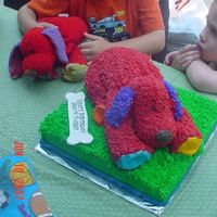 Red Puppy Cake This cake was made with love for my neighbor's son who has an obseesion with his stuffed red puppy, which is featured here along side...