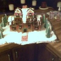 Gingerbread House This gingerbread house is made out of royal icing and gingerbread. The decorations are all royal icing except for the walkway and shudders...