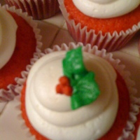 Christmas Cupcakes Red Velvet cupcakes with buttercream frosting