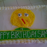 Sesame Street Birthday 1/4 sheetcake, all buttercream