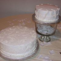 1St Wedding Cake I made this for a friend of the family.