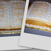 V &c B-Day Cake Book shaped bday cake for and adult and child