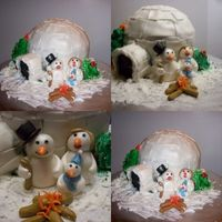 Snow Family My first one... I did this cake for the Womens shelter. The liked it so much they would not cut it...