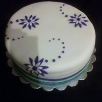 Simple Design A Customer wanted a simple birthday cake for his wife. This is what we came up with. It was a hit!