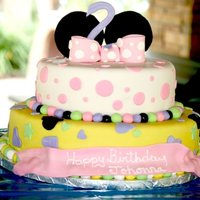 3 Tiered Minnie Mouse Cake Minnie Mouse cake for a very sweet little girl