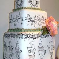 Tea Time Wedding Cake p.s. this website is totally addicting!