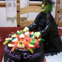 Witches Brew Birthday cake for someone who's birthday happened to be on Halloween