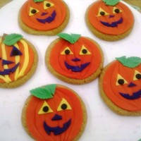 Pumpkin Cookies Made these for Halloween idea.