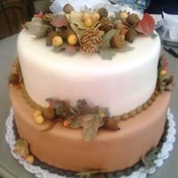 Fall Thanksgiving Cake   Made this for a Tall Cakes class I was teaching.