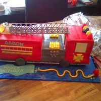 Fire Truck With Extension Ladder  I was asked to make a cake for a little boy who was turning four and loves fire trucks. So I quickly cam e here and started searching,...