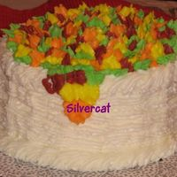 Mom's Welcome Autum Cake  Did this cake for my mom for some friends. Kinda screwed up the rope basketweave but it was the first time I was doing it free hand without...
